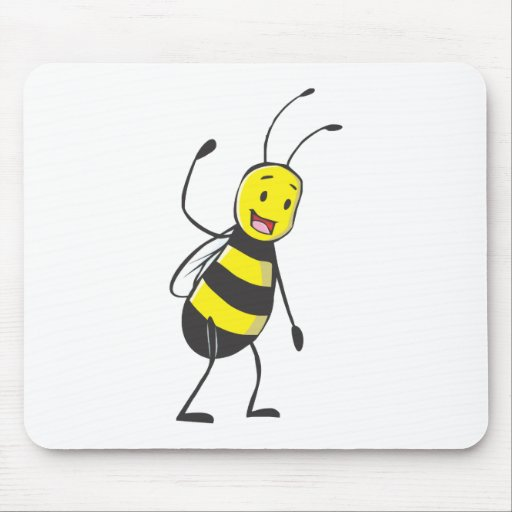Happy Friendly Bee Welcoming You Mousepads