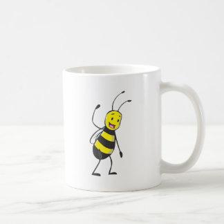 Happy Friendly Bee Welcoming You Coffee Mugs