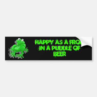 happy frog car bumper sticker