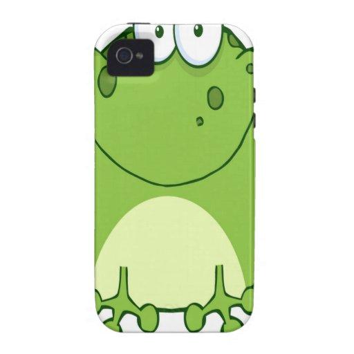 Happy Frog Cartoon Character Vibe iPhone 4 Case