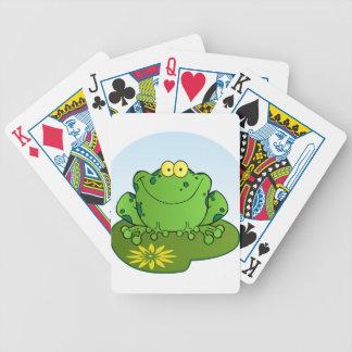 Happy Frog Cartoon Character Poker Deck
