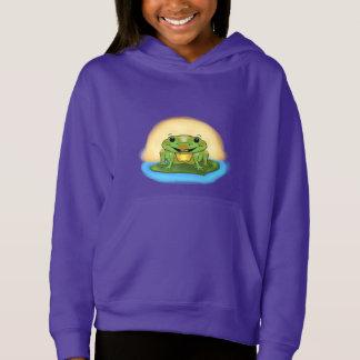 Happy Frog Girl's Hoodie