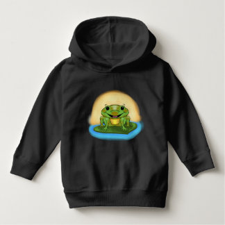 Happy Frog on a Lily Pad Baby Hoodie