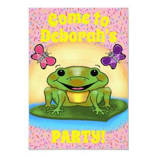 Happy Frog Party Invitation