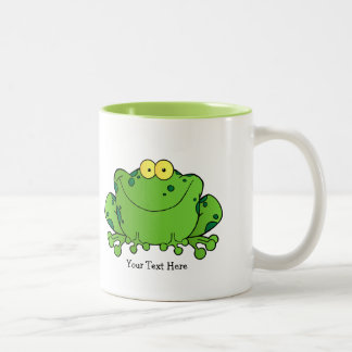Happy Frog (personalized) Two-Tone Coffee Mug