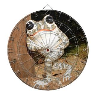 Happy frog with big eyes dart boards