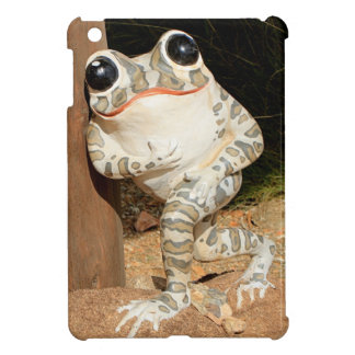 Happy frog with big eyes iPad mini cover
