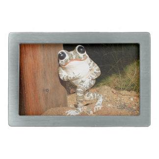 Happy frog with big eyes rectangular belt buckles