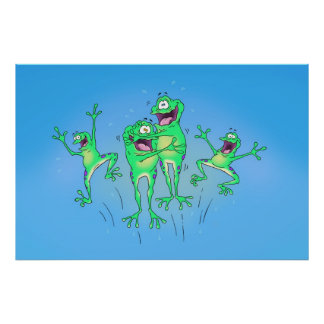 Happy Frogs Poster