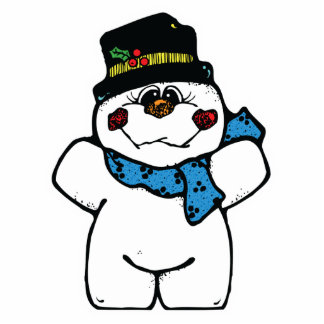happy frost snowman acrylic cut outs
