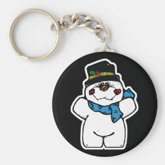 happy frost snowman keychains