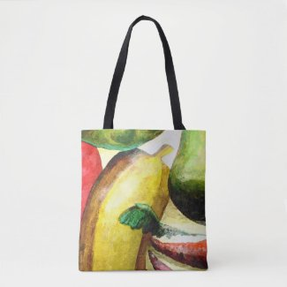 Happy Fruit And Vegies Tote