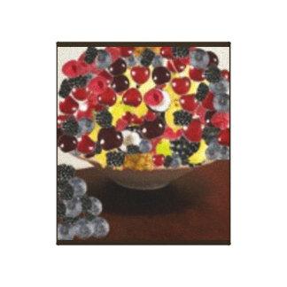 Happy Fruit Design Canvas Print