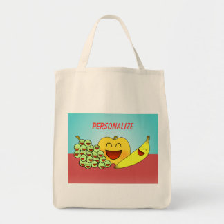 """""""Happy Fruit"""" Grocery Tote"""
