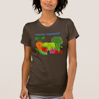 Happy Fruits and Vegetables Design Tshirt