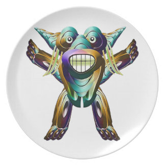 Happy Funny Monster Character Party Plates