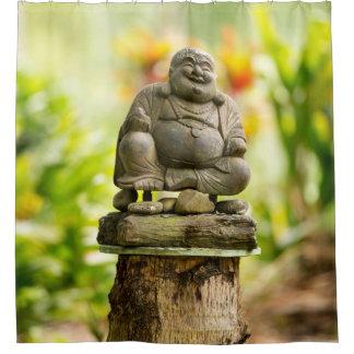 Happy Garden Buddha Shower Curtain