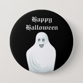 Happy Ghost Halloween 7.5 Cm Round Badge