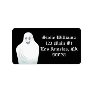 Happy Ghost Halloween Address Label