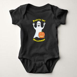 Happy Ghost Halloween Baby Bodysuit