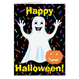 Happy Ghost Halloween Greeting card