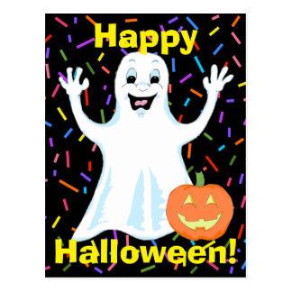 Happy Ghost Halloween Postcard