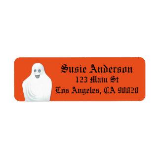 Happy Ghost Halloween Return Address Label
