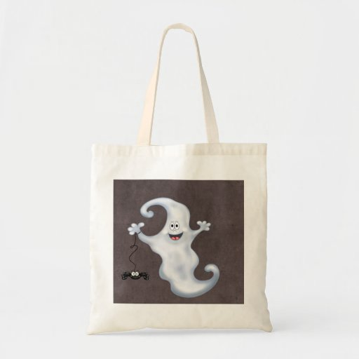 Happy Ghost with Spider Halloween Bag