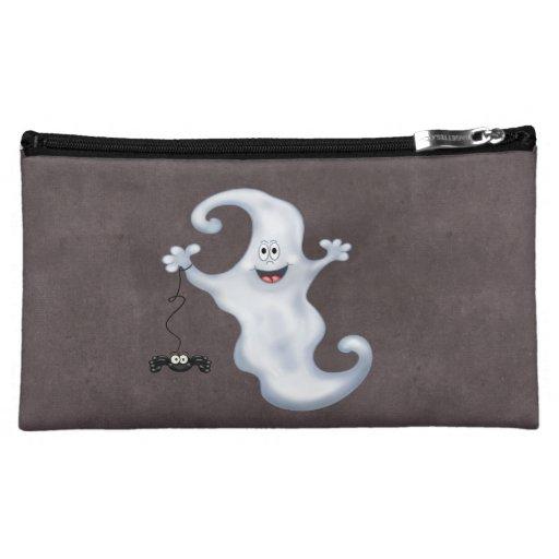 Happy Ghost with Spider Halloween Makeup Bag