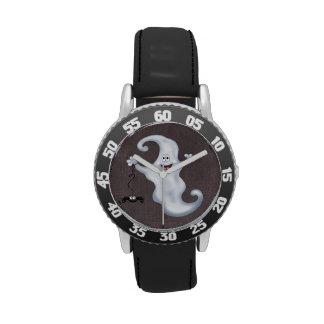 Happy Ghost with Spider Halloween Wrist Watch
