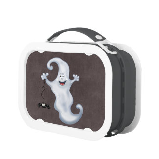 Happy Ghost with Spider Halloween Lunch Boxes