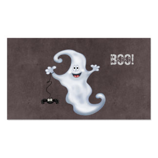 Happy Ghost with Spider Halloween Pack Of Standard Business Cards
