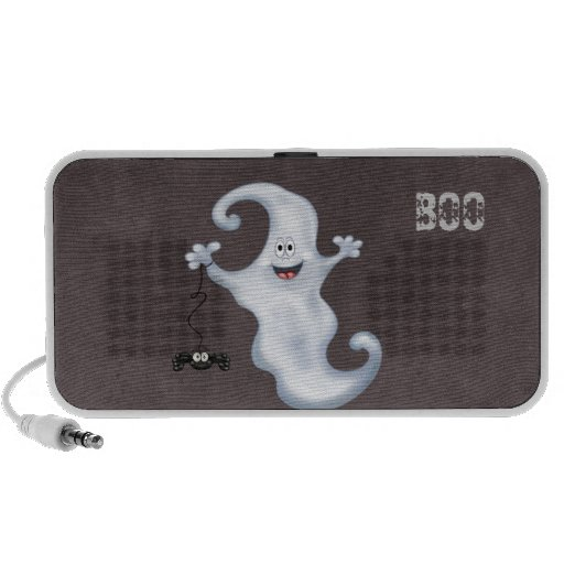 Happy Ghost with Spider Halloween Mini Speakers