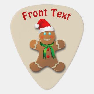 Happy Gingerbread Cookies Plectrum