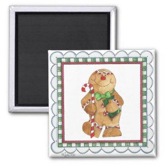 Happy Gingerbread Man Magnet