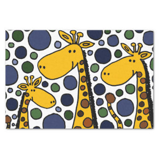 Happy Giraffe Family Abstract Tissue Paper