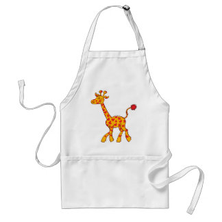 Happy Giraffe Spotted with Hearts Standard Apron