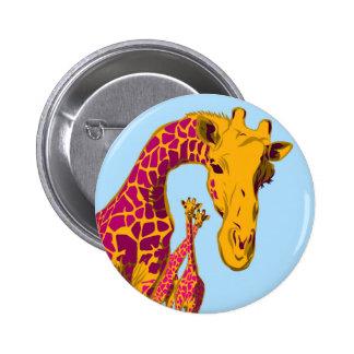 Happy Giraffes Button