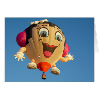 Happy Girl balloon Card