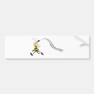 Happy Girl Bee Bumper Stickers
