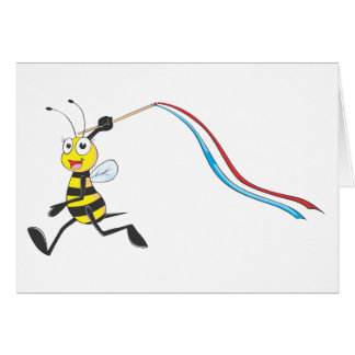 Happy Girl Bee Greeting Card