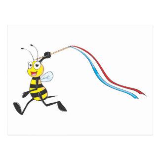 Happy Girl Bee Postcard