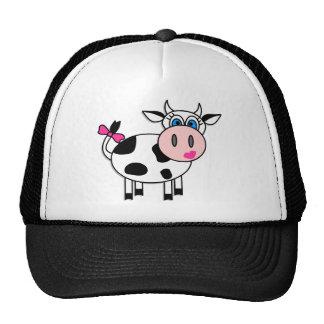 Happy Girl Cow Cap