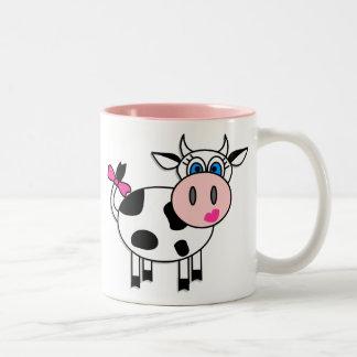 Happy Girl Cow Coffee Mug