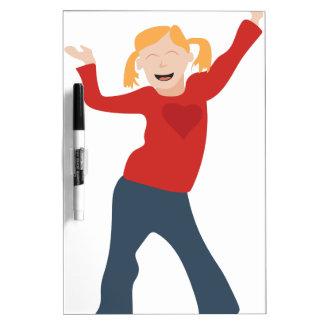 Happy Girl Dry Erase Board