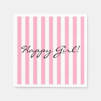 Happy Girl Paper Napkin