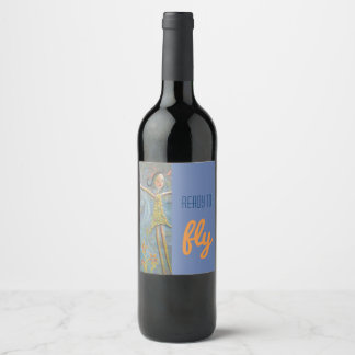 happy girl wine label