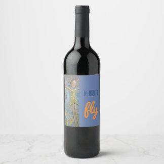 happy girl wine label