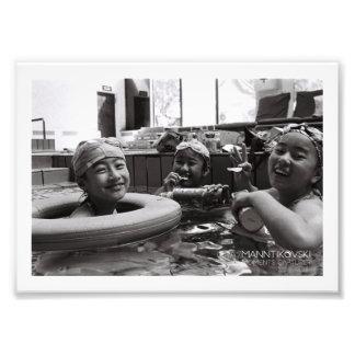 """Happy Girls in Beijing Pool 7"""" x 5"""" photo"""