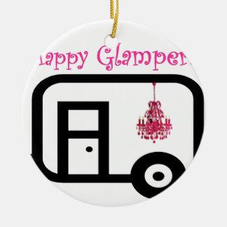 Happy Glamper! Ceramic Ornament